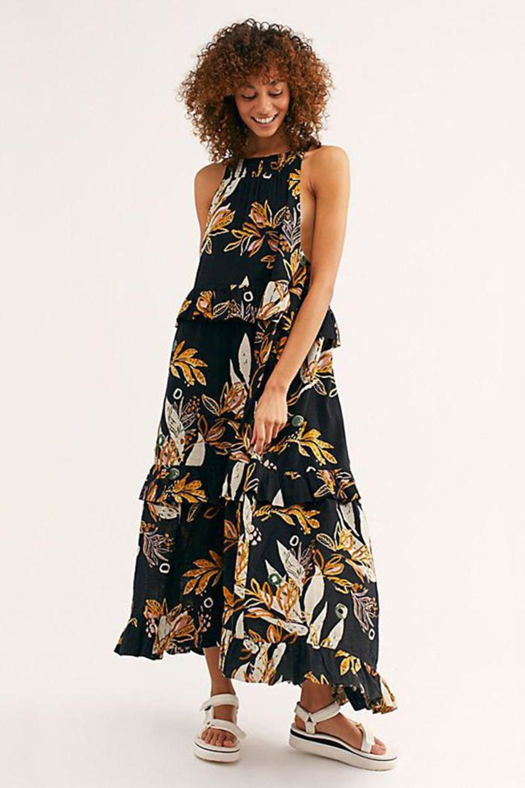 Free People Floral Maxi Dress - Main Image