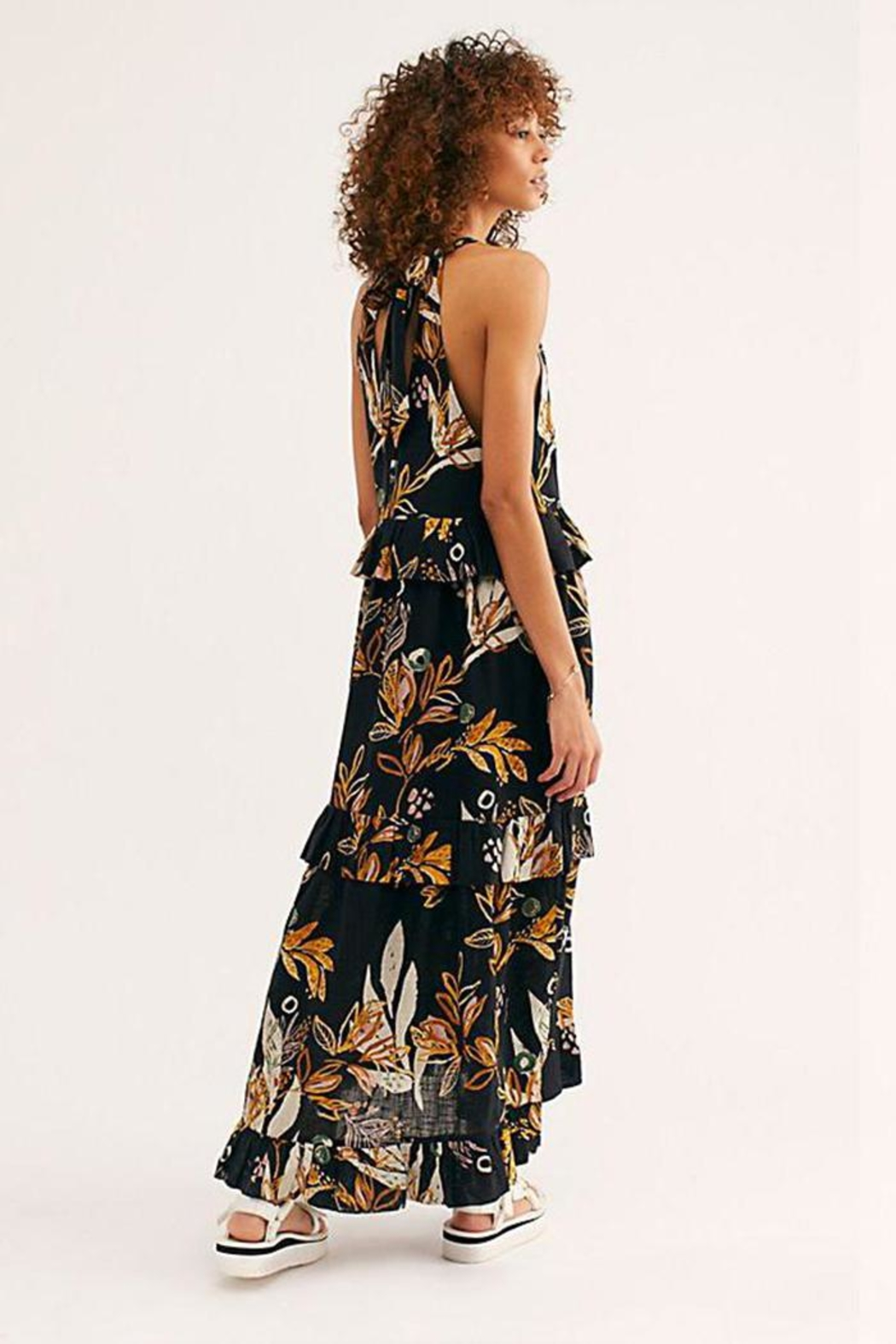 Free People Floral Maxi Dress - Front Full Image