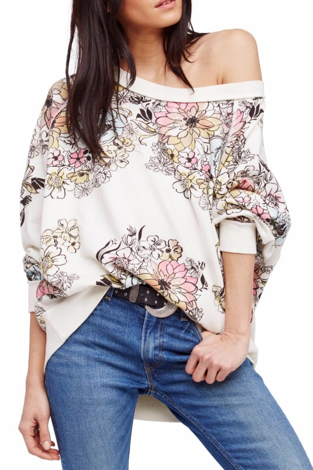 Free People Floral Printed Pullover - Main Image