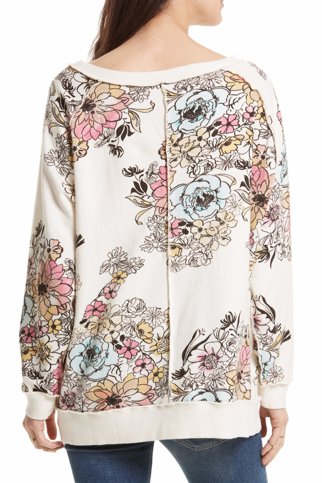 Free People Floral Printed Pullover - Front Full Image