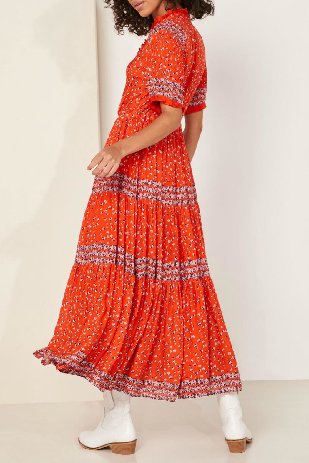 Free People Floral Tiered Maxi Dress - Front Full Image