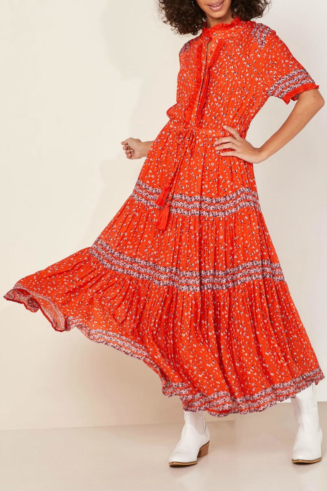 Free People Floral Tiered Maxi Dress - Main Image