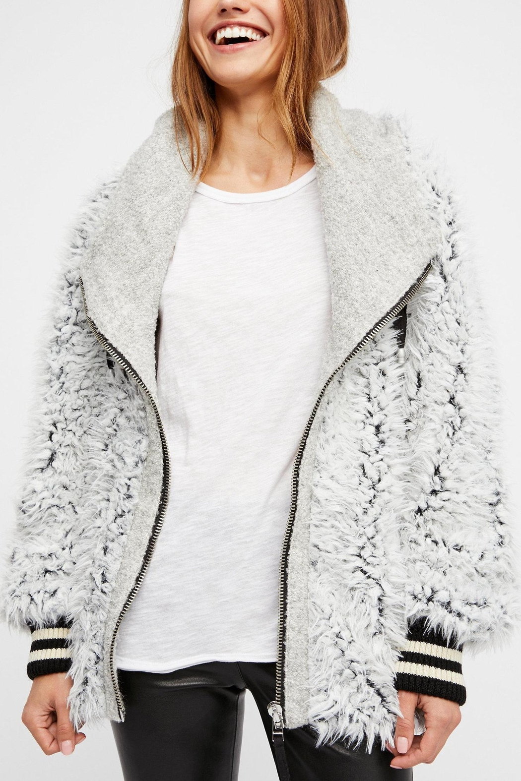 Free People Fluffy Dolman Jacket - Main Image