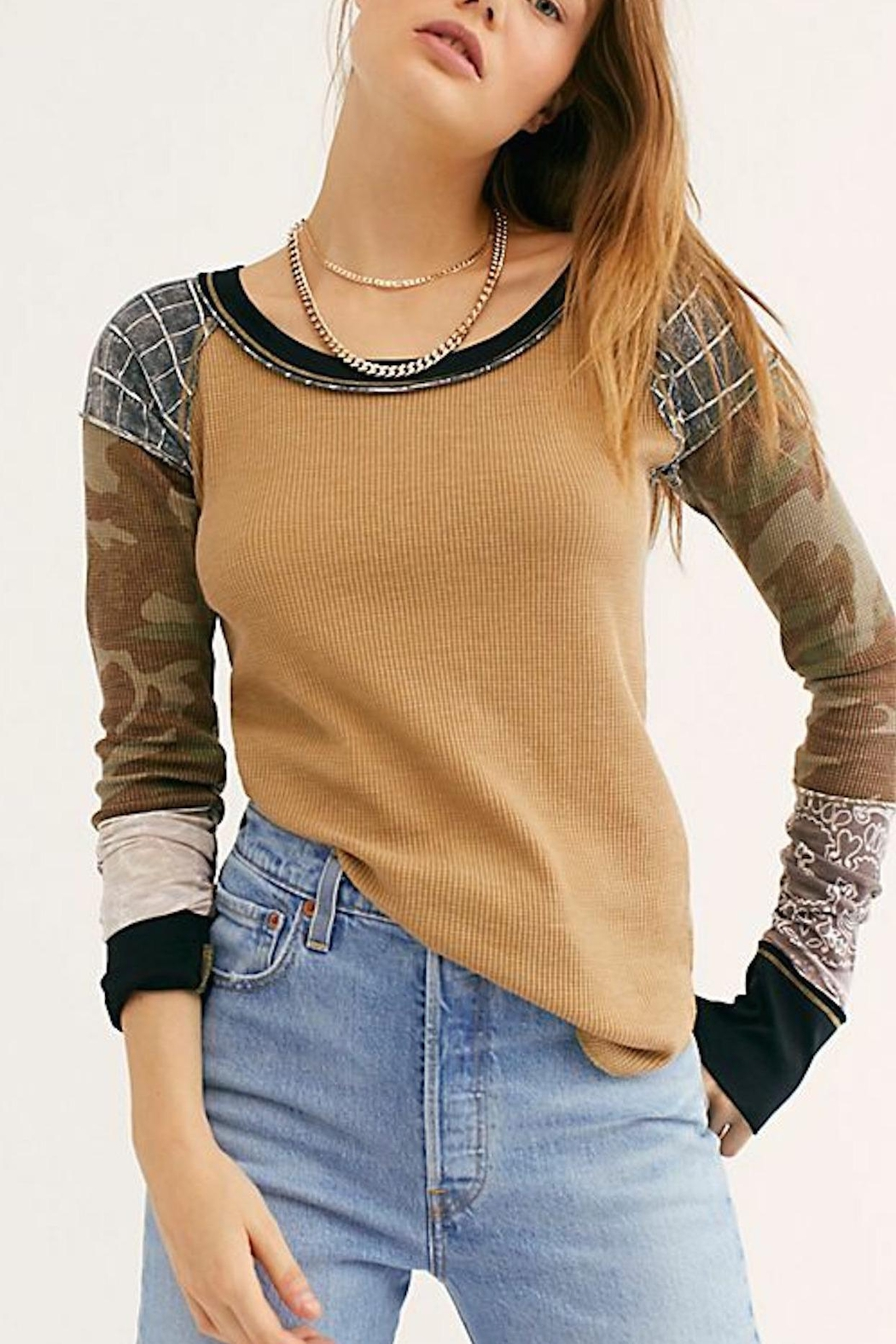 Free People Fp Bright-Side Waffle - Front Full Image
