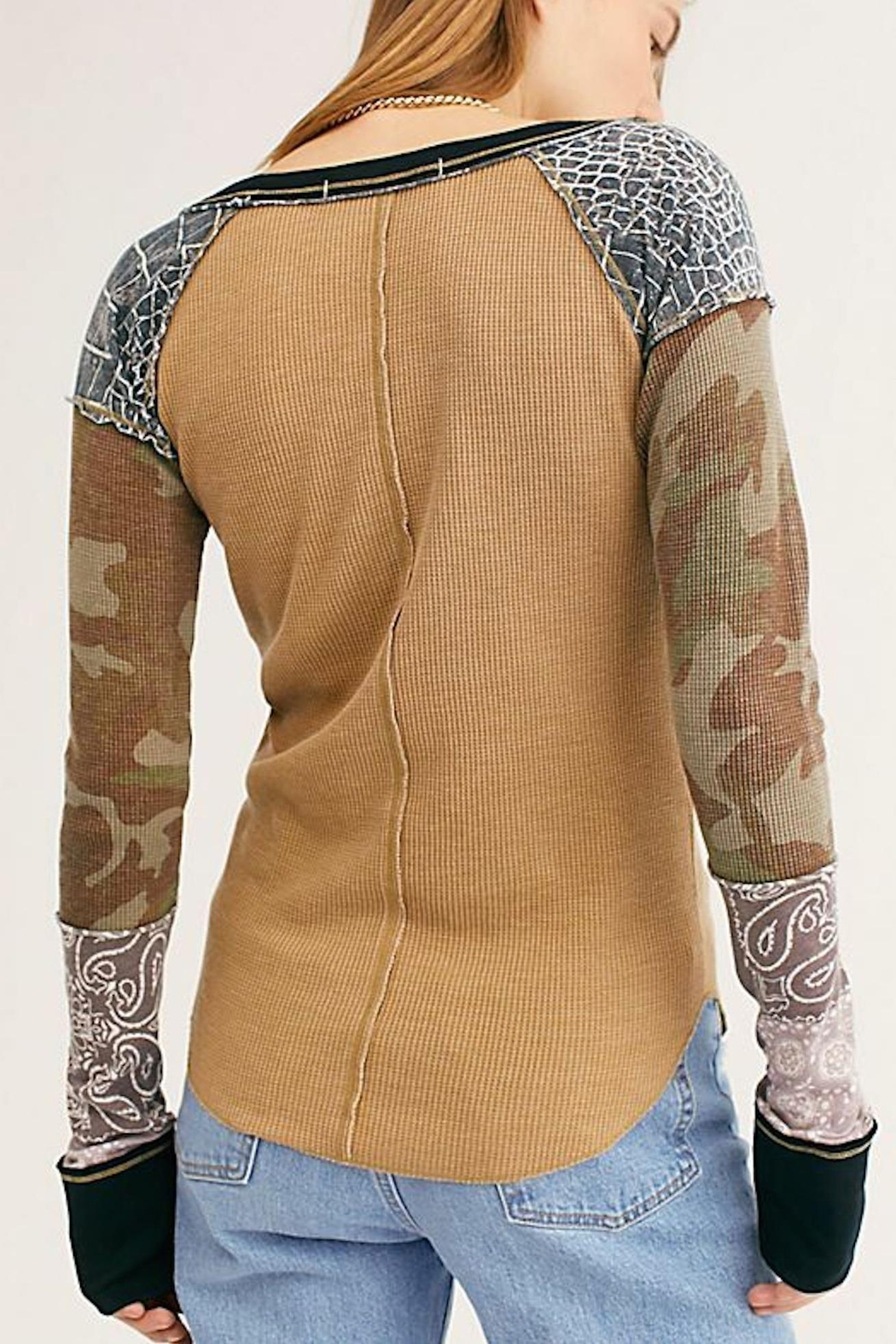 Free People Fp Bright-Side Waffle - Side Cropped Image