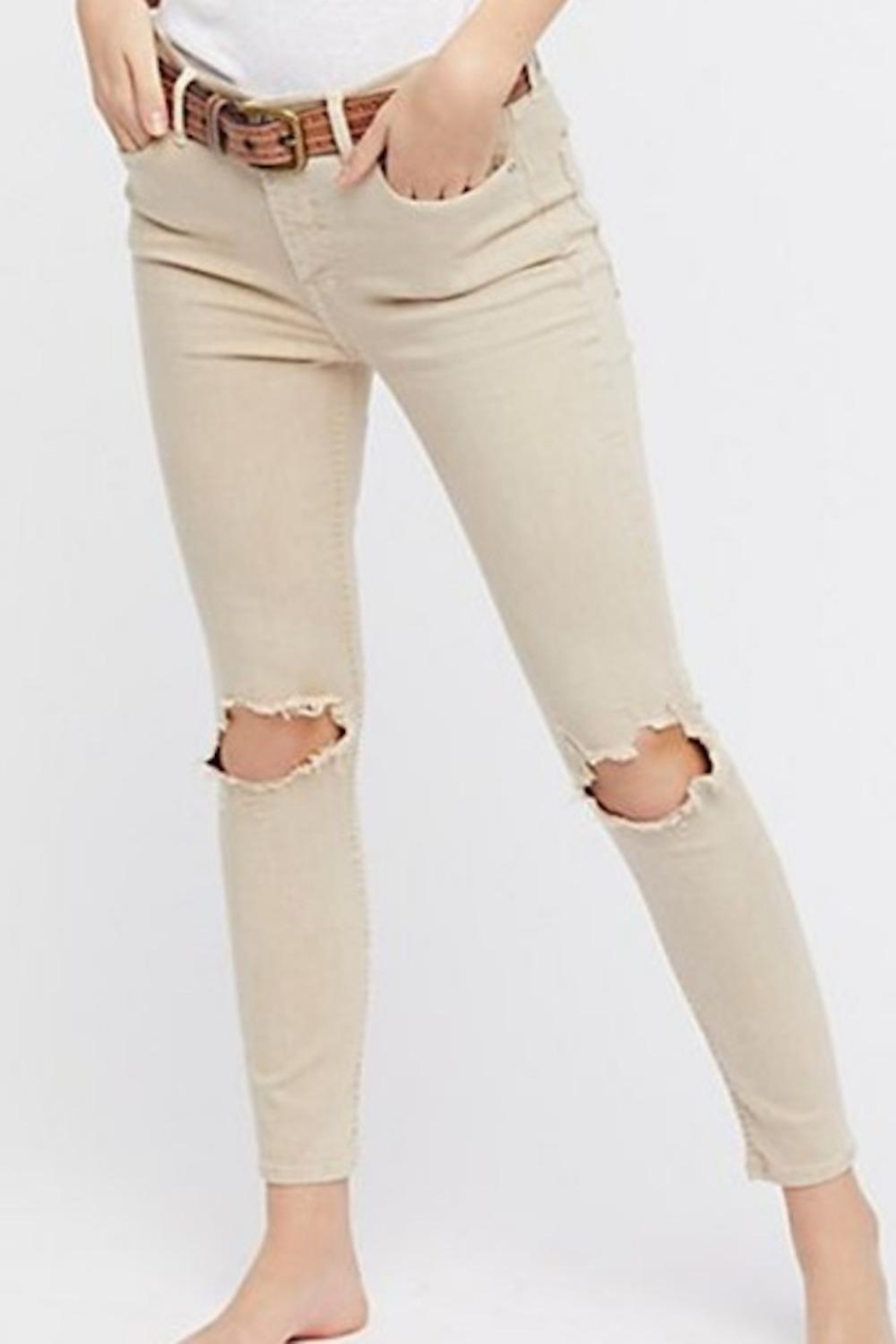 Free People Fp Busted Knee Jean - Front Full Image