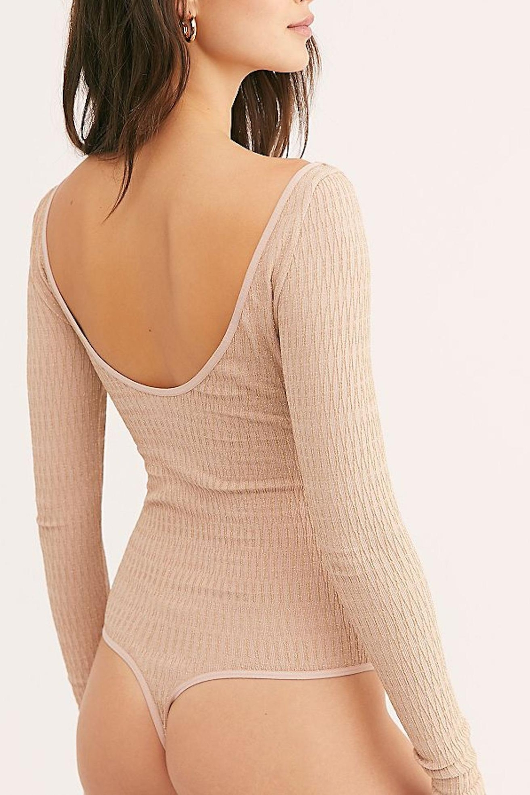 Free People Fp Gold Bodysuit - Back Cropped Image