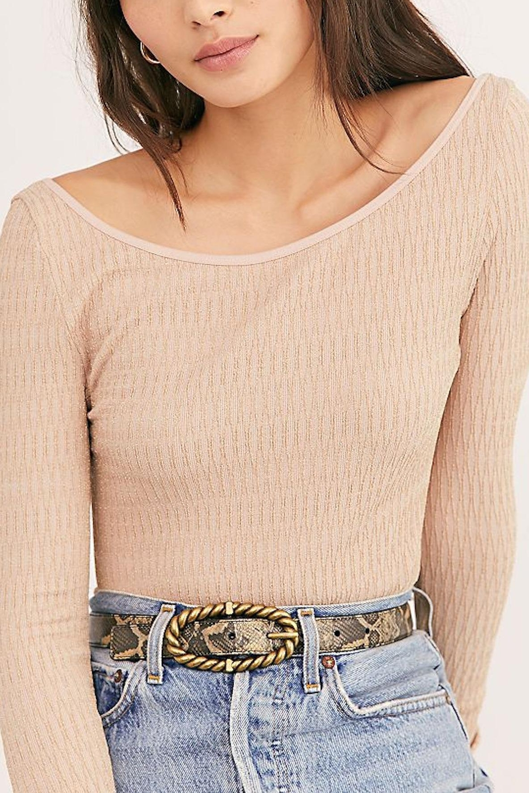 Free People Fp Gold Bodysuit - Front Full Image