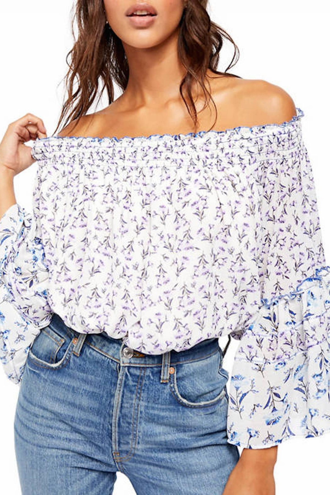 Free People Fp Rose-Valley Blouse - Main Image