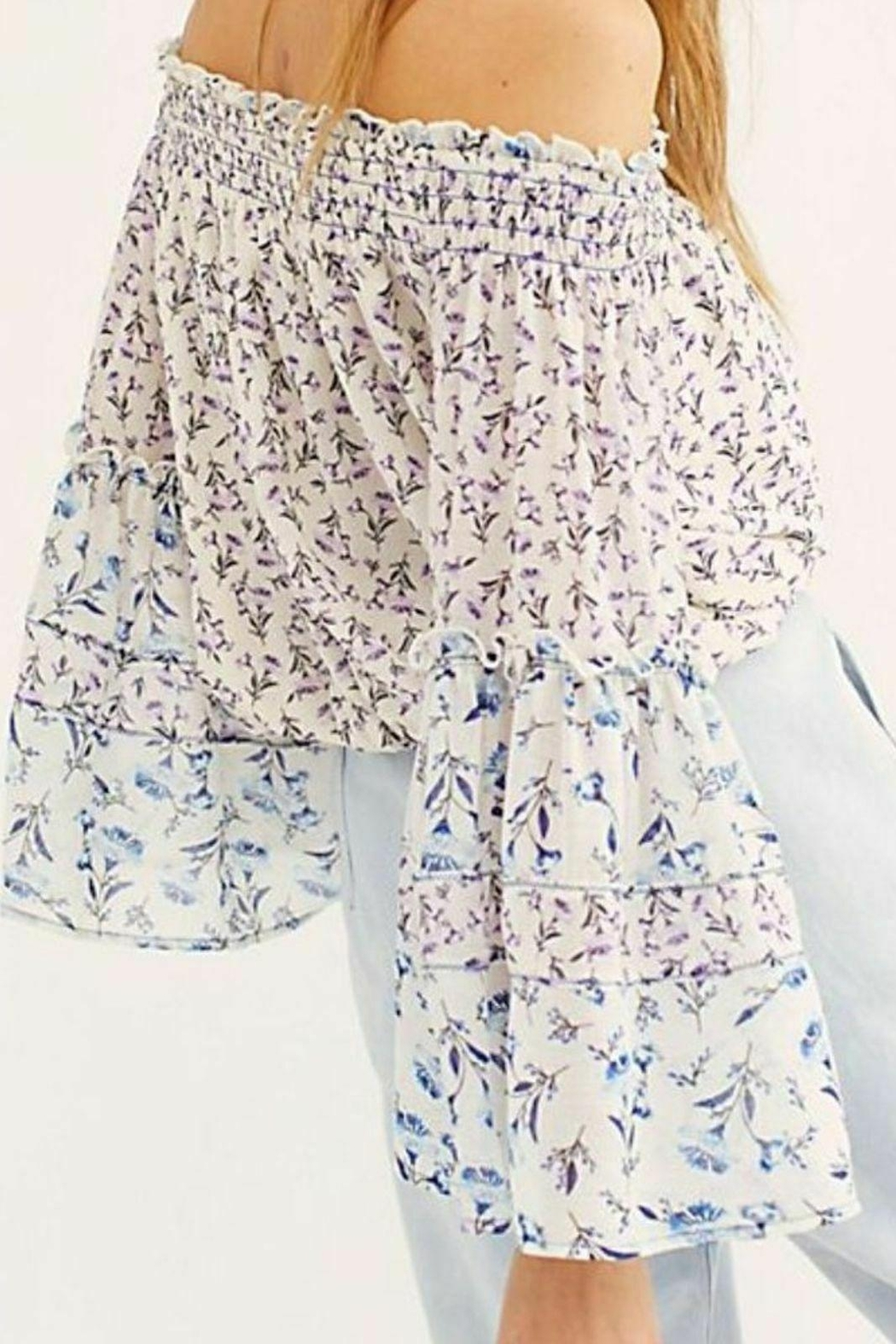 Free People Fp Rose-Valley Blouse - Front Full Image