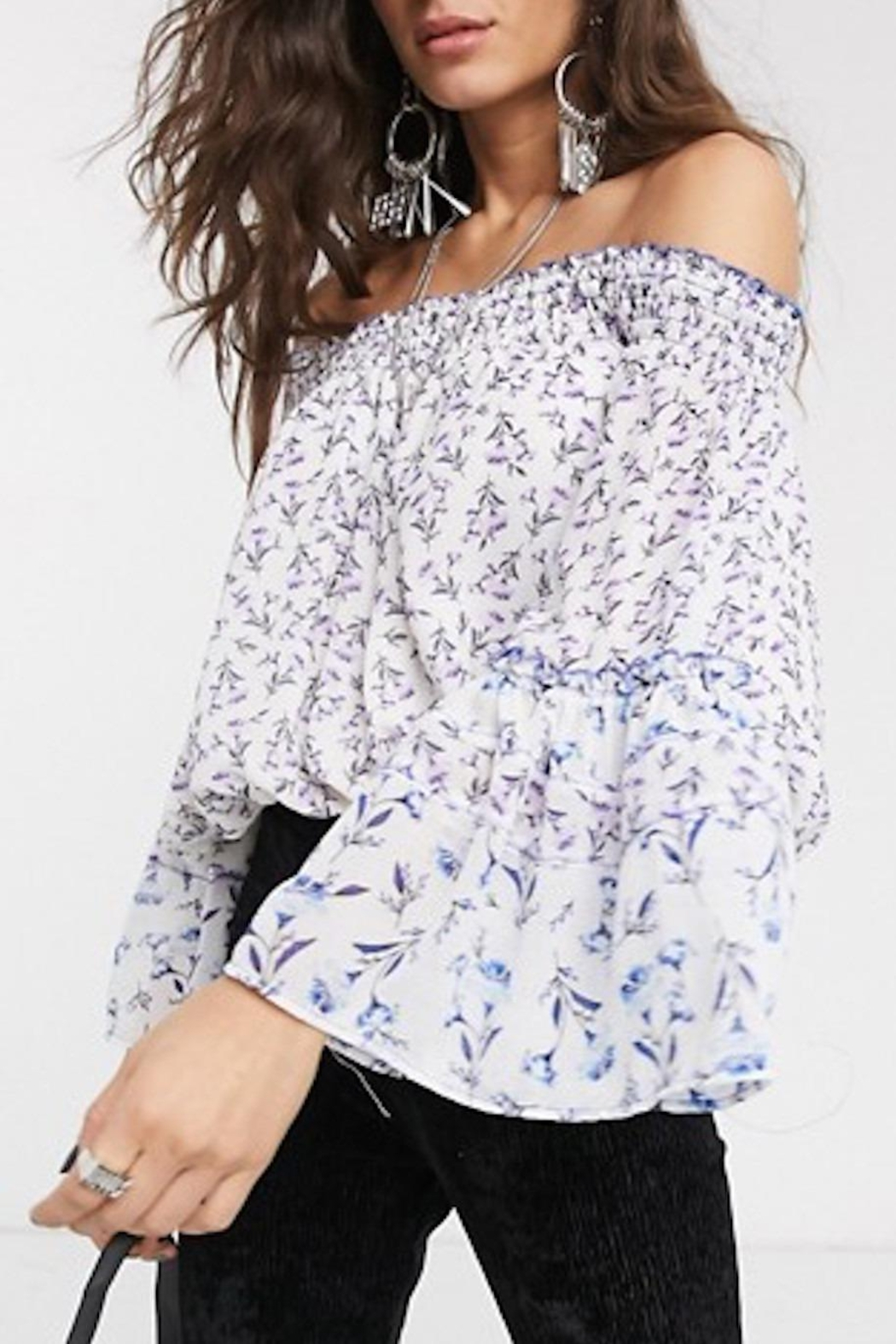 Free People Fp Rose-Valley Blouse - Side Cropped Image
