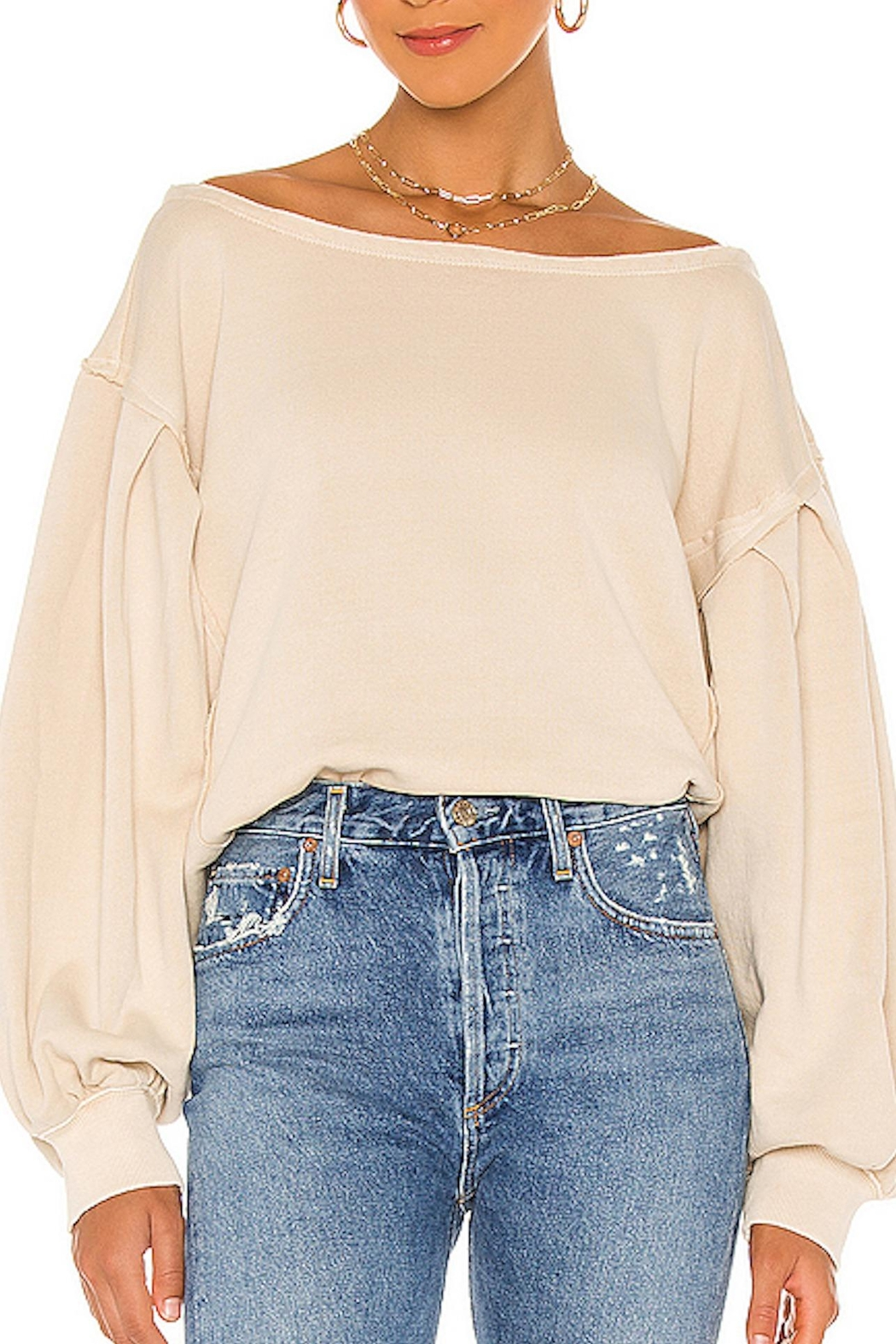 Free People Fp Rosey Tee - Front Full Image