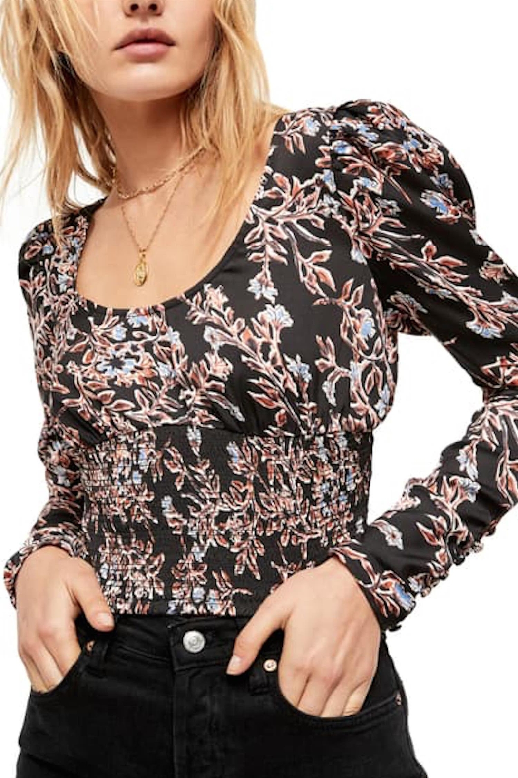 Free People Fp Santiago Blouse - Front Full Image