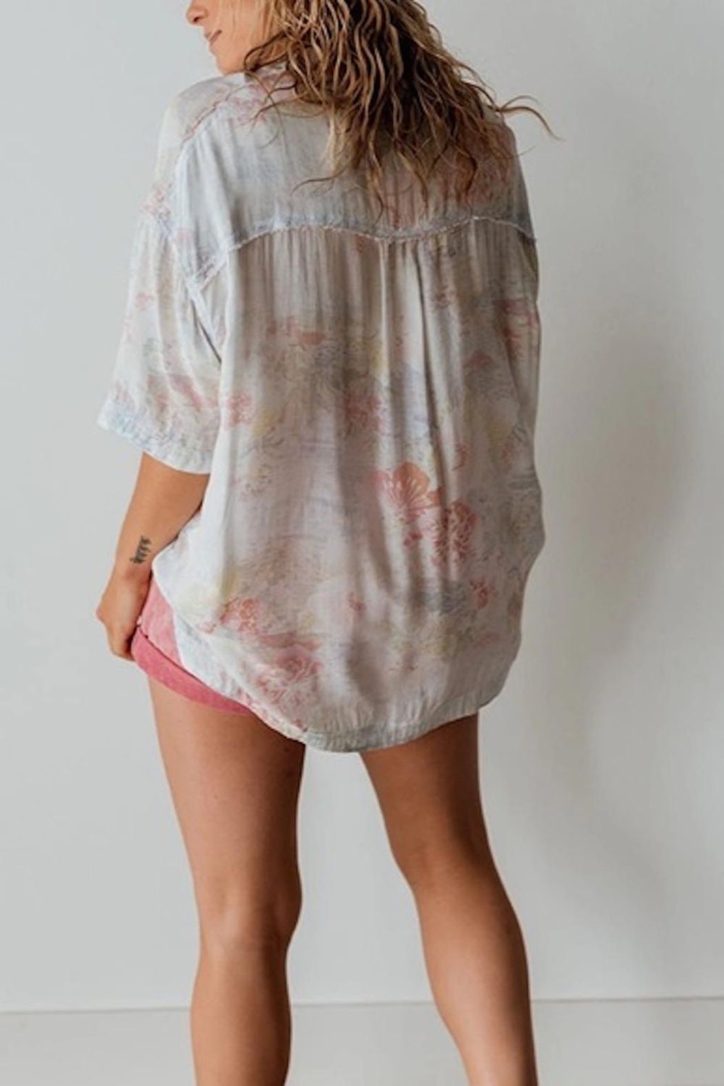 Free People Fp Vibes Buttondown - Back Cropped Image