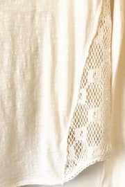 Free People Cream Cotton Lacy Back Top Long Sleeve - Side cropped