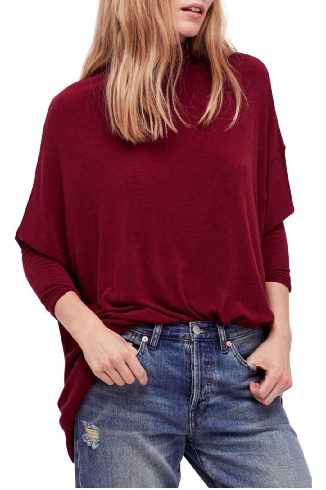 Free People Free Turtleneck Red Sweater - Main Image