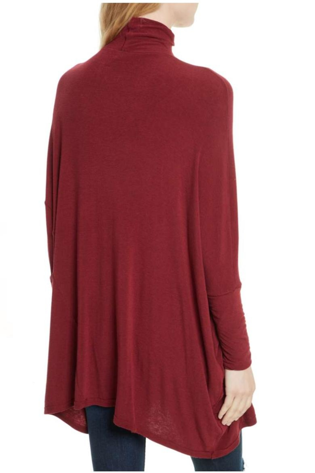 Free People Free Turtleneck Red Sweater - Front Full Image