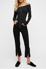 Free People Button Crop Pant - Product Mini Image