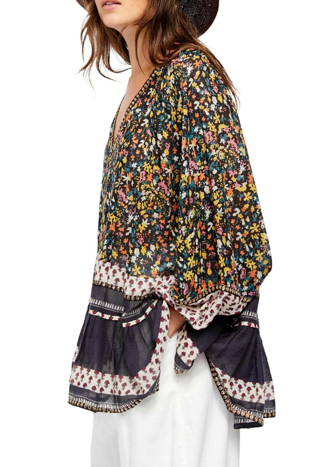 Free People Gardenia Floral-Print Tunic - Side Cropped Image