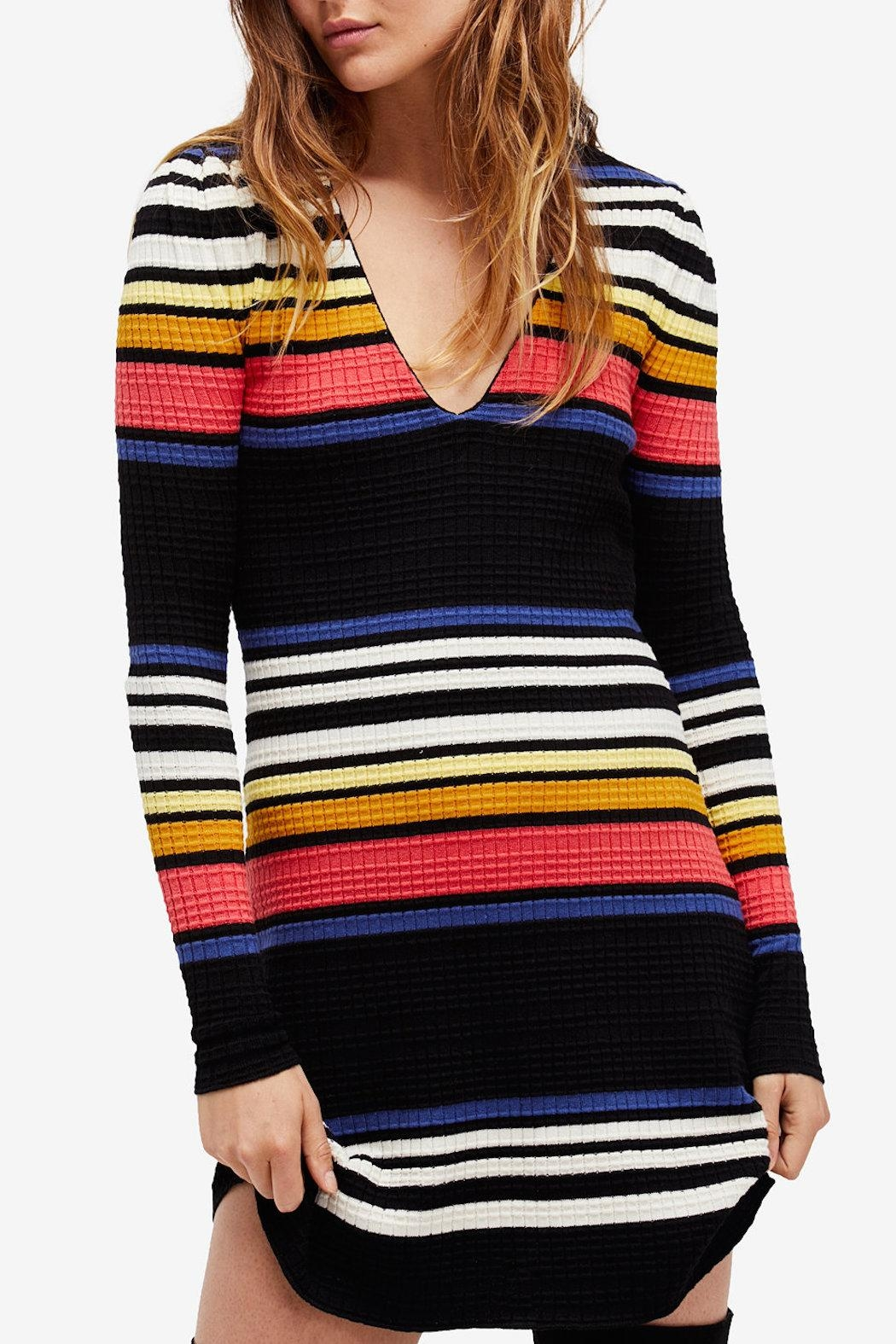 Free People Gidget Sweater Dress - Front Cropped Image