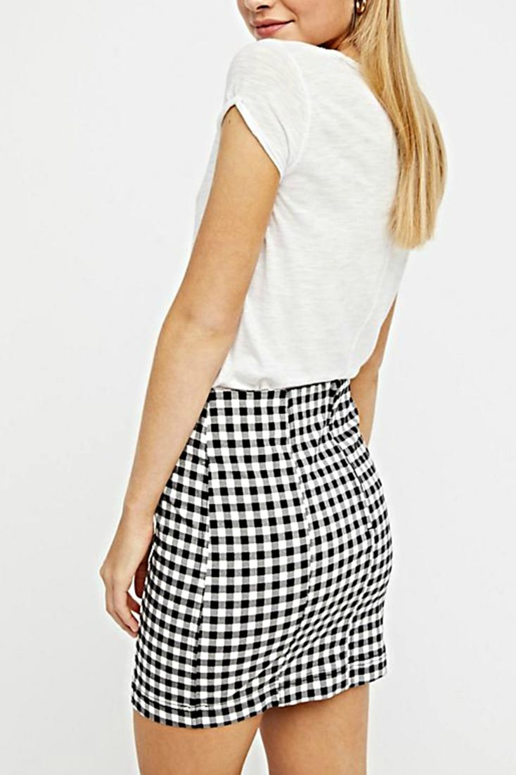 Free People Gingham Skirt - Front Full Image