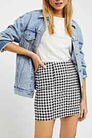 Free People Gingham Skirt - Back cropped