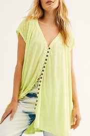 Free People Highland Button Tee - Product Mini Image