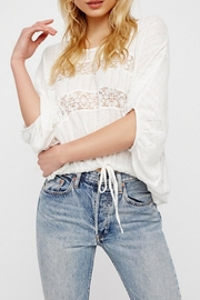 Free People Lace Quarter Length Top - Product Mini Image