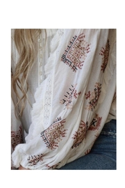 Free People Ivory Embroidered Top - Front full body