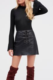 Free People Join Hands Leather Skirt - Front cropped