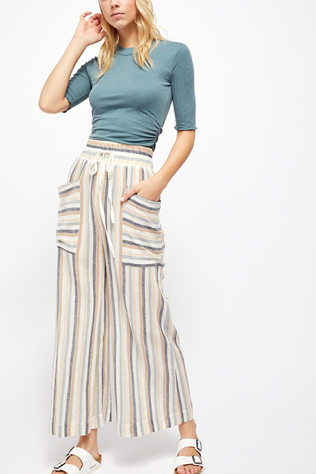 Free People Jones Beach Pant - Back Cropped Image