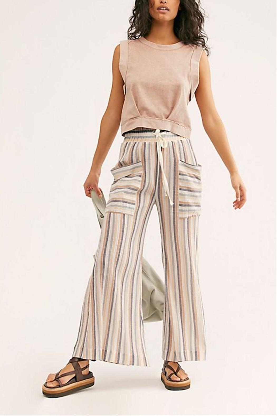 Free People Jones Beach Pant - Front Cropped Image