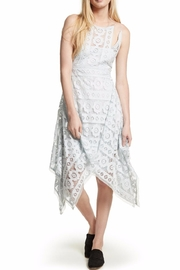 Free People Ice Blue Lace Dress - Product Mini Image