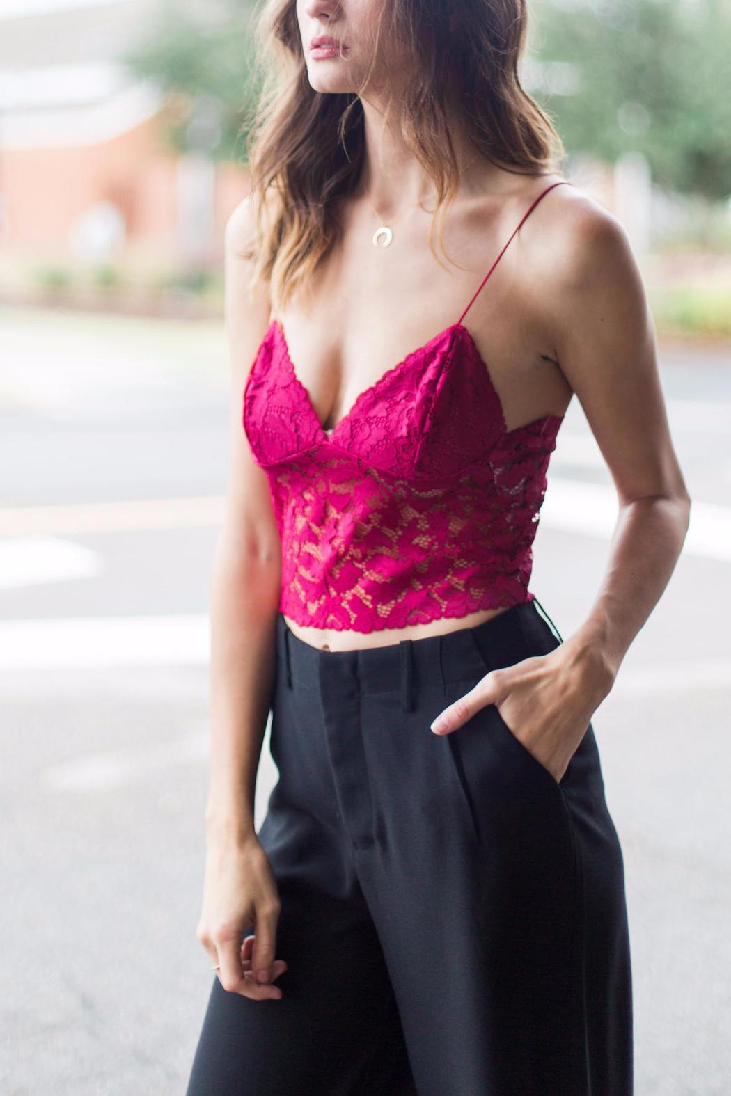 Free People Lace Crop Top - Main Image