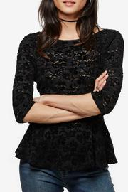 Free People Lace Peplum Top - Product Mini Image