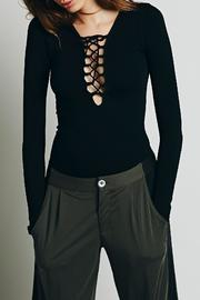 Free People Lace Up Top - Front full body