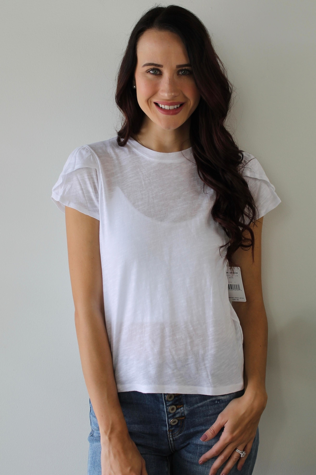 Free People Latte Tee - Front Cropped Image