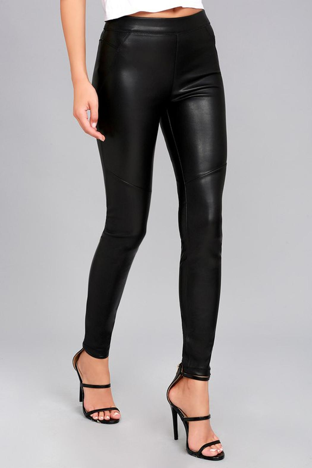 Free People Leatherette Legging - Side Cropped Image