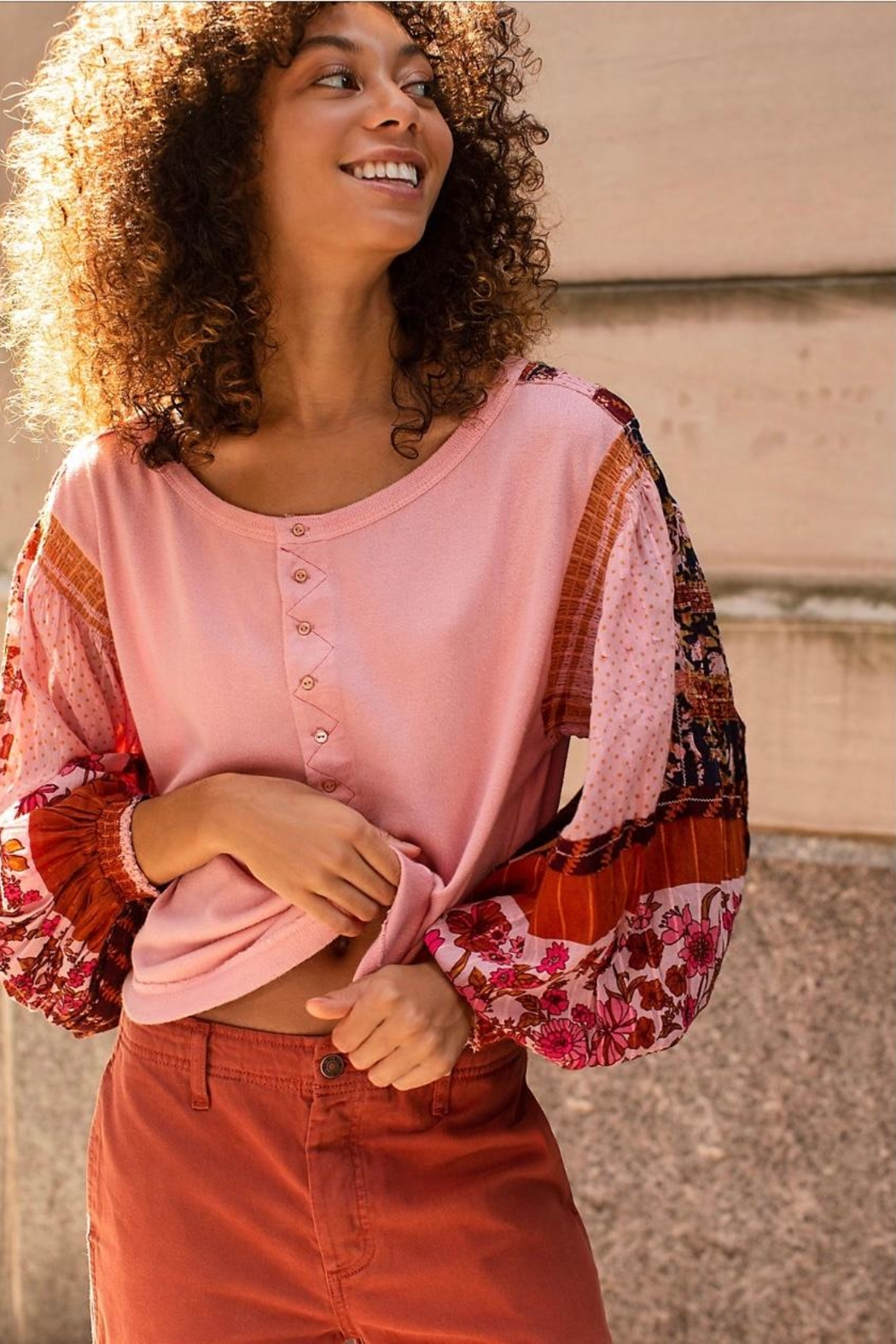 Free People Light Magic Henley - Side Cropped Image