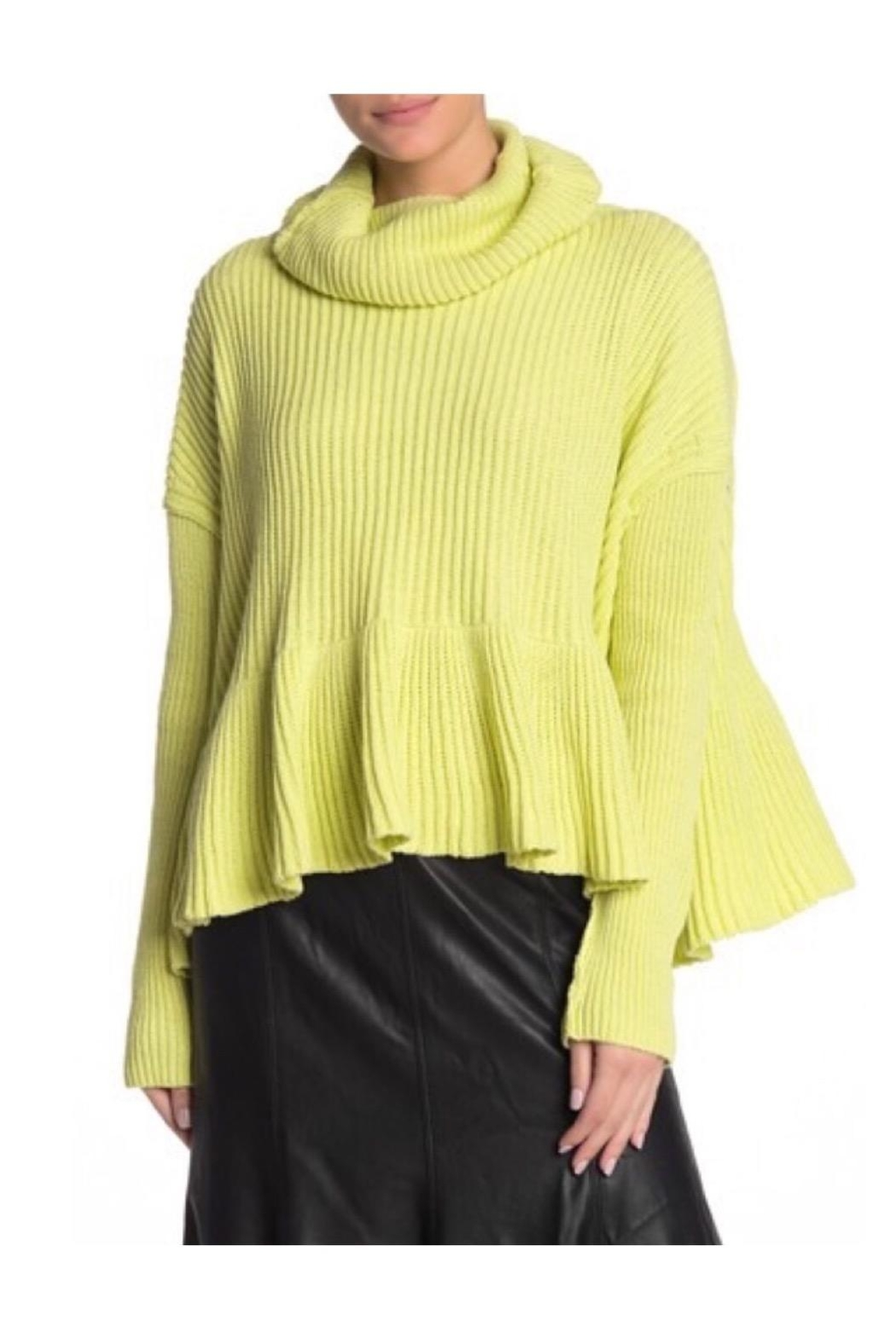 Free People Lime Turtleneck Sweater - Main Image