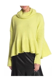 Free People Lime Turtleneck Sweater - Front cropped