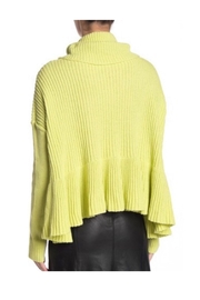 Free People Lime Turtleneck Sweater - Front full body