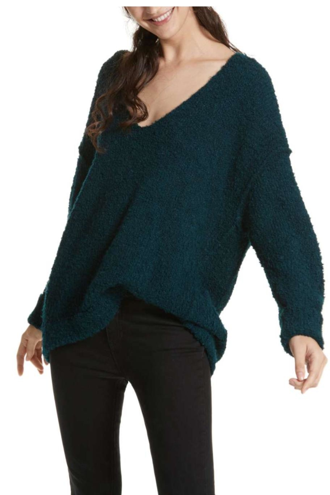Free People Lofty V Neck Sweater From Texas By Epiphany Shoptiques