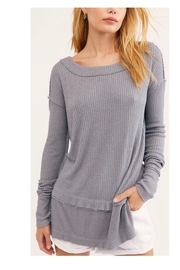 Free People Long Grey Thermal - Product Mini Image