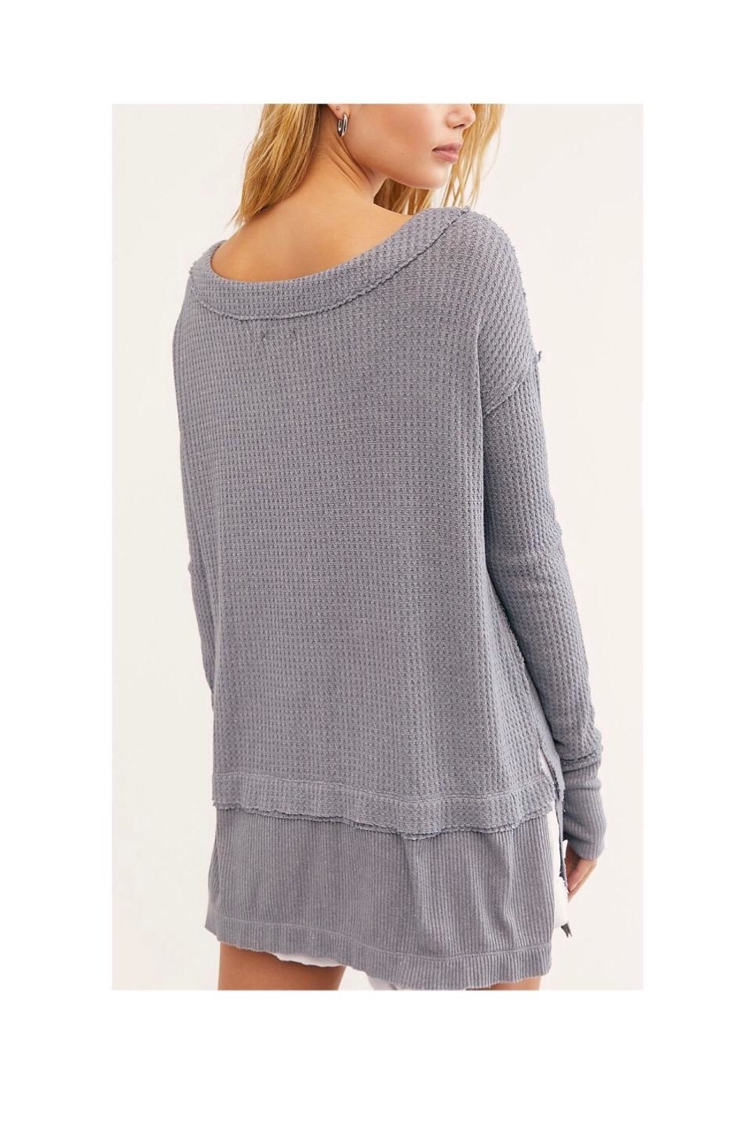 Free People Long Grey Thermal - Front Full Image