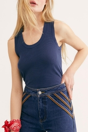 Free People Midnight U-Neck Tank - Front cropped