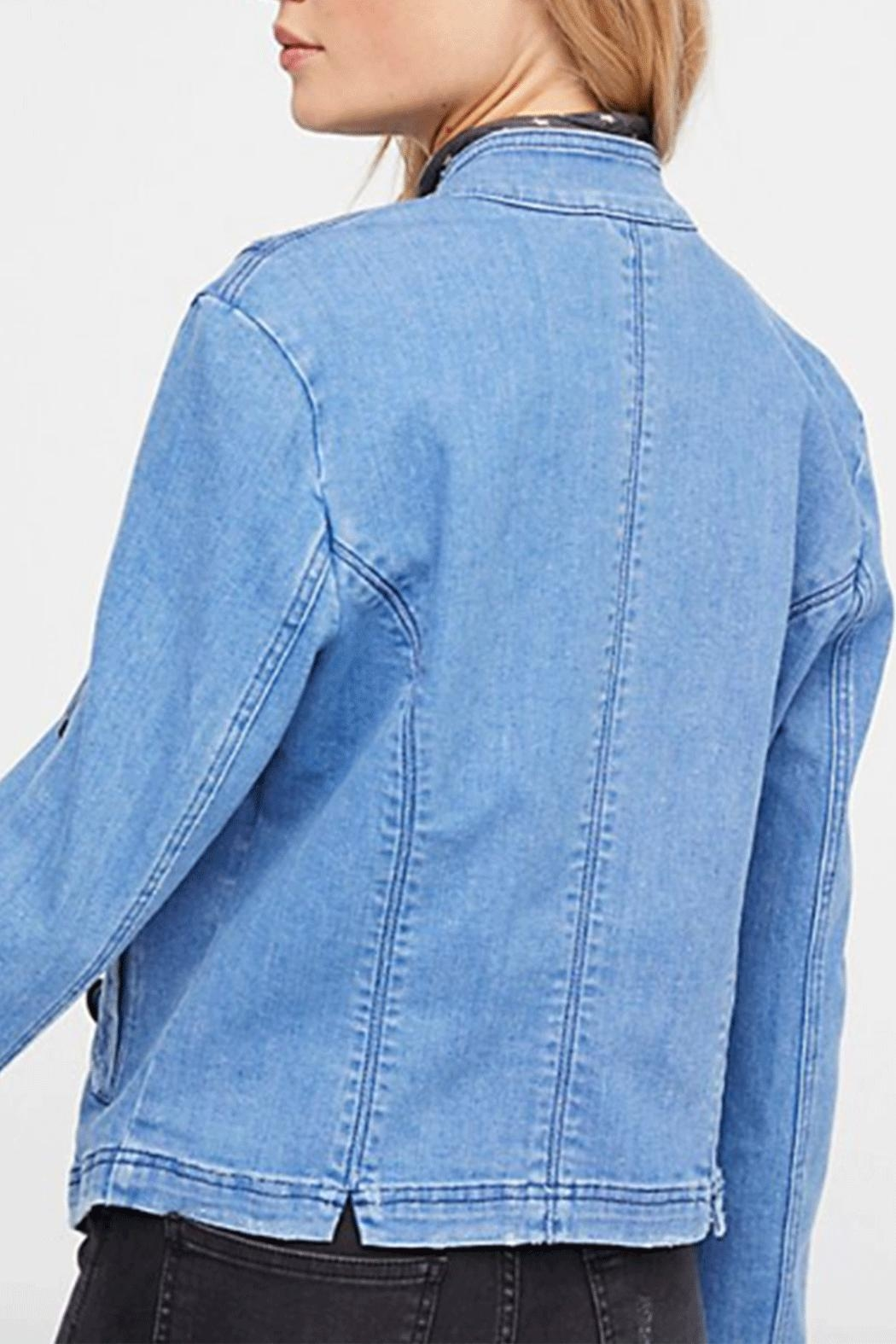 Free People Military Denim Jacket - Side Cropped Image
