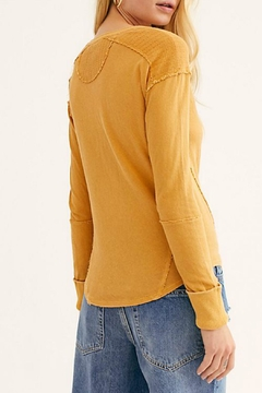 Free People Military Mix Henley - Alternate List Image