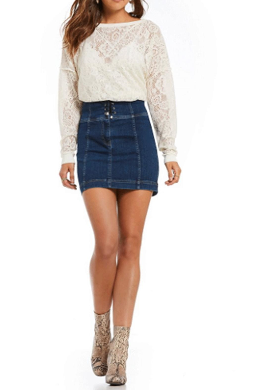 Free People Modern-Femme Borset Mini-Skirt - Front Cropped Image