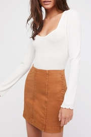 Free People Modern Femme Denim Skirt - Front cropped